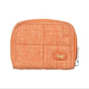 Lug | Mini Handspring Travel Wallet, Sunset Orange